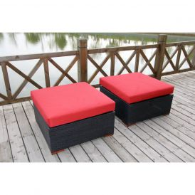 Bali 802 Outdoor Ottoman, Set of Two