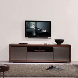 Esquire TV Stand in Light Walnut