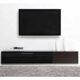 Producer TV Stand in Grey Stained Ebony