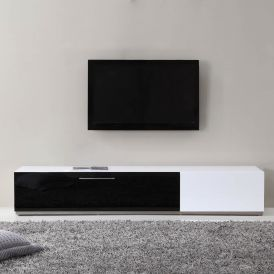 Producer TV Stand in White High-Gloss