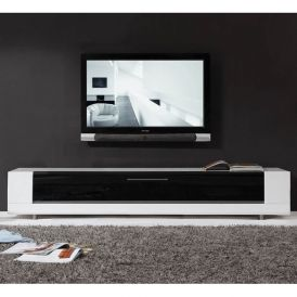 Editor Remix TV Stand in High Gloss White