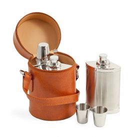 Six Piece Flask Set in Carrying Case