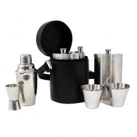 Ten Piece Bar Set in Round Carrying Case
