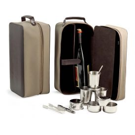 Seven Piece Travel Bar Set in Zippered Case