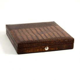 Croco Pattern 12 Cigar Humidor