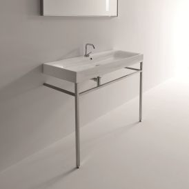 "Cento 3534 + 9123K1 Free Standing Bathroom Sink 47.2"" x 17.7"""
