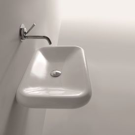"Cento 3543 Wall Mounted / Vessel Bathroom Sink 23.6"" x 16.1"""