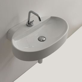 "Cento 3553 Wall Mounted / Vessel Bathroom Sink 23.6"" x 15.7"""