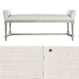 Long Simon Bench in a Parker Grey Finish