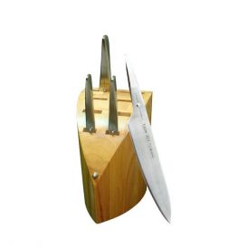 Type 301 PO124 5 Piece Knife Set with Knife Block