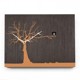 CuCuRuKu M1768 Natural Wenge/Orange Tree Wall Clock