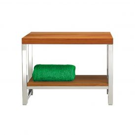 DW WO SM Wood Bench in Chrome