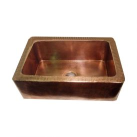 EF 710 Farmhouse Sink in Antique Copper