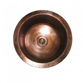ERFB 370 Bar Sink in Antique Copper with Flat Bottom