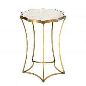 Astre Side Table with Marble Top
