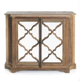 Lowery Cabinet with a Natural Wood Finish