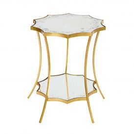 Astre Side Table Two Tier with Curved Legs