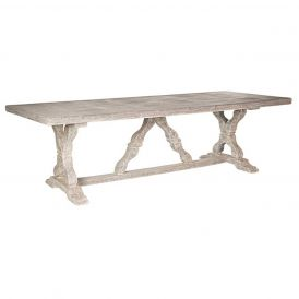 Indoor/Outdoor Table in a Distressed Grey Finish