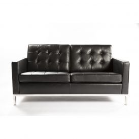 Leather Draper Love Seat