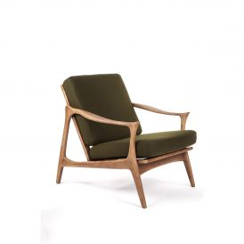 The Upton Easy Chair with Horned Armrests