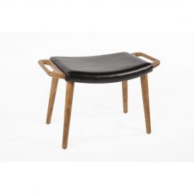 The Olsen Ottoman with Leatherette