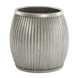 Galvanized Planter or Side Table