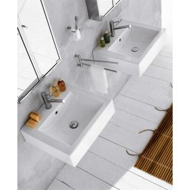 "GSI Cubo 50 Wall Mounted / Vessel Bathroom Sink 19.7"" x 17.7"""