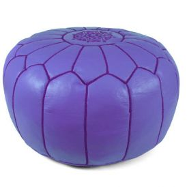 Moroccan Pouf in Lilac
