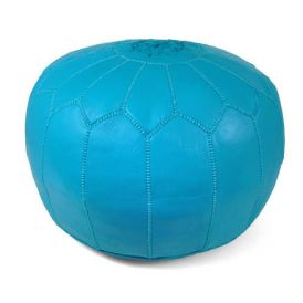 Moroccan Pouf in Turquoise
