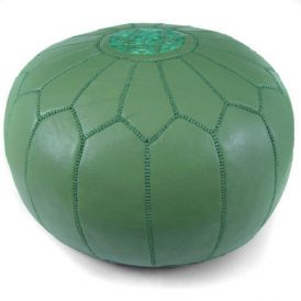 Moroccan Pouf in Green