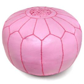 Moroccan Pouf in Pink