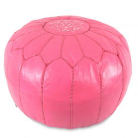 Moroccan Pouf in Dark Pink