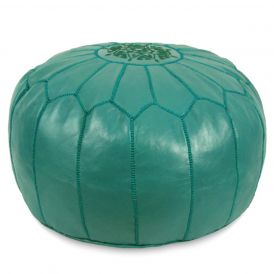 Moroccan Pouf in Teal