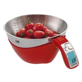 iSense Digital Kitchen Scale in Red