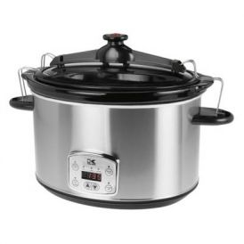 Stainless Steel 8 Quart Digital Slow Cooker with Locking Lid
