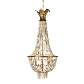 Small Orleans Chandelier in White