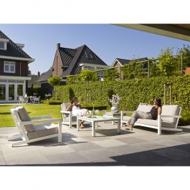 Block White 4-Piece Deep Seating Collection