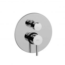 Light LIG 018 Concealed Two Outlet Shower Faucet with Valve and Trim in Polished Chrome