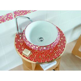 LVT 100 Impero Rosso Vessel Bathroom Sink