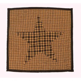 Colonial Black and Tan Quilted Pillow