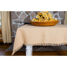 Deluxe Burlap Natural Tan Table Cloth
