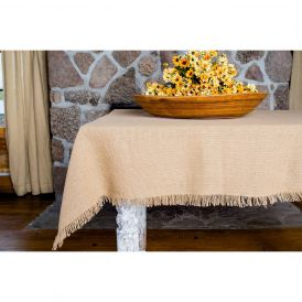 Deluxe Burlap Natural Tan Table Topper
