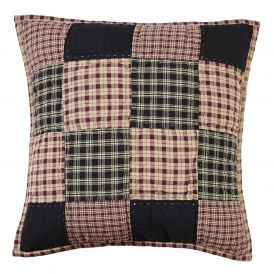 Plum Creek Quilted Checkered Pillow