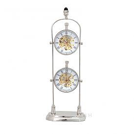 Brass AK004 See Thru Double Clock Stand