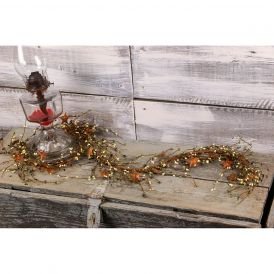 "Pip Berry & Rusty Star Garland, 40"" - Olive & Ivory"