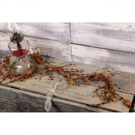 "Pip Berry & Rusty Star Garland, 60"" - Colonial Americana"