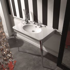 "Retro 1049 Wall Mounted Bathroom Sink with Legs 39.4"" x 21.5"""