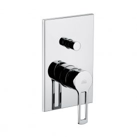 Ringo 015 Shower Mixer with Diverter in Polished Chrome