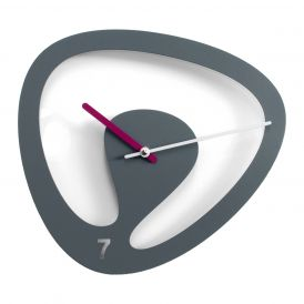 Seven M2085 Grey Wall Clock