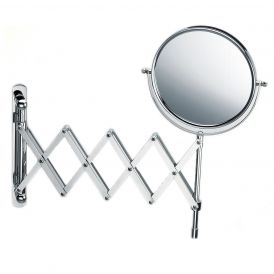 Smile 180 Accordion Style Reversible 8x/1x Magnifying Makeup Mirror